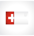 Envelope with Swiss flag card vector image vector image