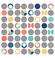 geometric colorful mixed circle seamless pattern vector image