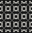 geometric seamless pattern with floral shapes vector image
