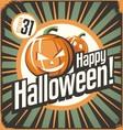 halloween retro poster design concept vintage tin vector image