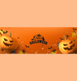 happy halloween greeting banner vector image vector image
