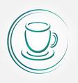 icon blue tea or coffee cup vector image