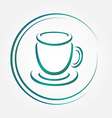 icon of blue tea or coffee cup vector image