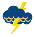 isolated thunderstorm weather icon vector image