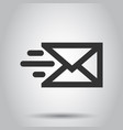 mail envelope icon in flat style email message on vector image vector image
