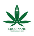 medical cannabis leaf logo designs vector image
