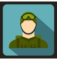 Military paratrooper icon flat style vector image vector image