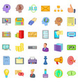 open market icons set cartoon style vector image vector image