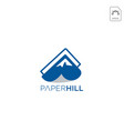 paper and mountain logo design inspiration vector image