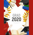 realistic graduate frame vector image vector image