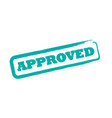 rubber office stamp with word approved vector image