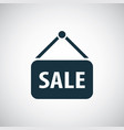 sale sign icon for web and ui on white background vector image vector image