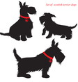 Scottish Terrier dog silhouettes vector image vector image