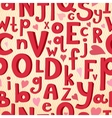 seamless pattern with Latin letters of different vector image