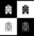 set medical hospital building with cross icons vector image