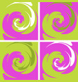 set of four colored spiral background vector image