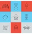 Set of nine furniture for home vector image