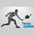 silhouette of a tennis player vector image vector image