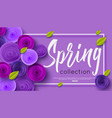 spring fashion banner with handwritten calligraphy vector image vector image