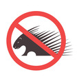 Stop Porcupine Sign vector image
