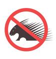Stop Porcupine Sign