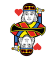 Stylized King of Hearts no card vector image
