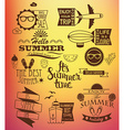Summer holidays design elements vector image