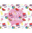 Summer time Holidays pattern vector image vector image