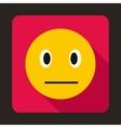 Suspicious emoticon icon flat style vector image vector image