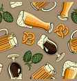 vintage brewing colorful seamless pattern vector image