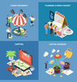 wealth management isometric design concept vector image vector image