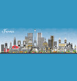 welcome to france skyline with gray buildings and vector image