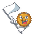 with flag apple pie isolated in the mascot vector image
