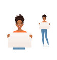 woman wit board vector image