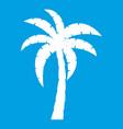 palm icon white vector image