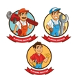Plumbing service Plumber cartoon design vector image