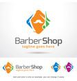 barber shop logo template design