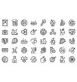 bioengineer icons set outline style vector image vector image