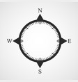 black compass icon vector image vector image
