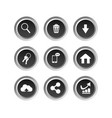 black internet buttons on white background vector image