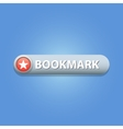 Bookmark Button vector image vector image