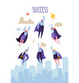 business leadership concept flat superhero vector image vector image