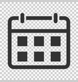 calendar agenda icon in flat style planner on vector image vector image