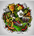 cartoon doodles football vector image vector image