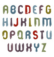 Cartoon hand-painted colorful capital letters vector image