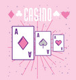 casino poker aces card gambling cartoon style vector image