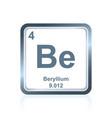 chemical element beryllium from the periodic table vector image vector image