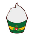 Christmas cupcake celebration icon
