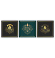 christmas square banners vintage typographic vector image vector image