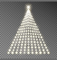 christmas tree of lights string glowing xm vector image vector image